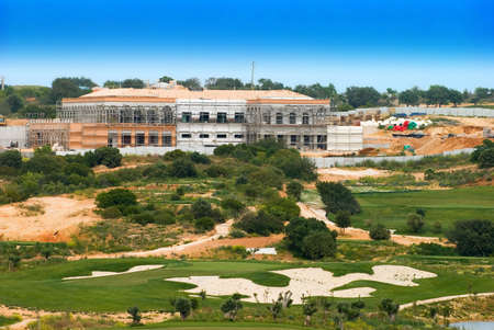 Large new  complex under construction, Algarve, Portugal Stock Photo - 3042565