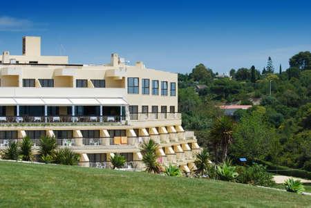 Hotel set in hillside just back from the coast - Mediterranean region Stock Photo - 3087650