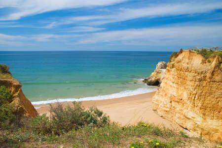 praia: Cove at Praia da Rocha beach, Algarve, Portugal