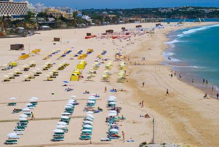 praia: The beach at Praia da Rocha, Portugal Stock Photo