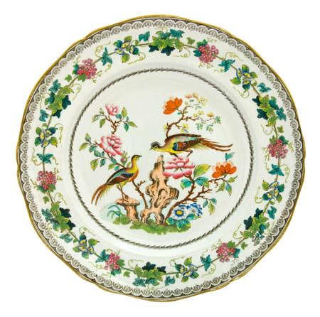 polychrome: An antique Minton plate c1838, Asiatic Pheasant design - genuine antiques series