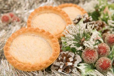 carne picada: Temporada festiva pies en la mince un ajuste de Navidad