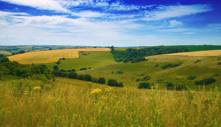 dorset: View over the Dorset Hills, Southern UK