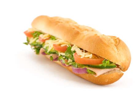 ham and cheese: Fresh ham & cheese salad French stick