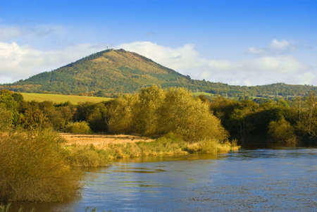 severn: The Wrekin with river Severn in foreground, Shropshire, UK