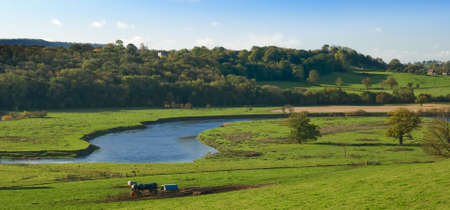 severn: The river Severn meandering through the Ironbridge area, Shropshire