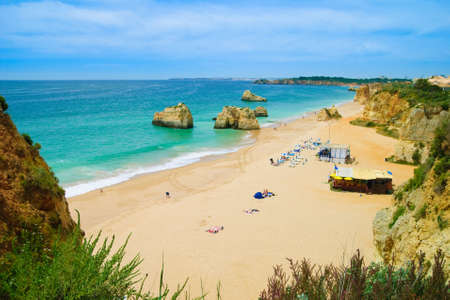 Algarve coastal view near the luxury Praia do Vau resort photo