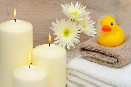 Bathroom setting with rubber duck Stock Photo - 4000572