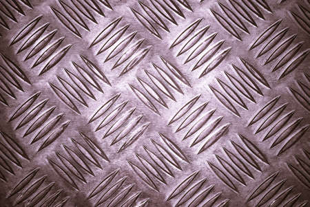 Aluminium checker plate grungy background texture Stock Photo - 4000598