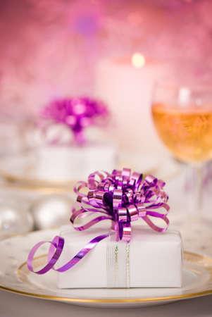 Celebratory dinner setting - shallow dof photo