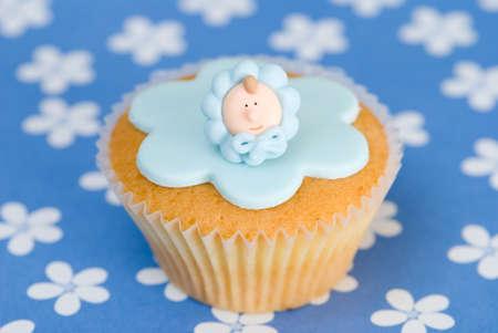 baptism: Celebrazione torta nascita del bambino o ragazzo di battesimo Archivio Fotografico