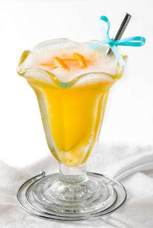 sorbet: Sorbet pomarańczowy mrożony deser