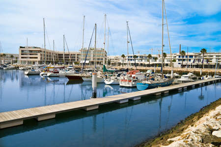 Busy southern European marina with moored boats Stock Photo - 4305742