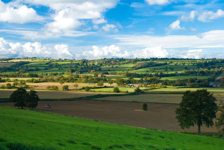 Rich farmland in the Shropshire Hills, UK photo