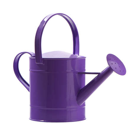 watering can: Purple watering can isolated on white background