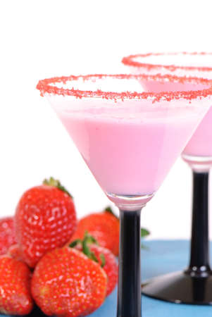 Strawberry fruit smoothie drinks photo