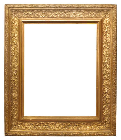 Antique Gilt Picture Frame Isolated On White Stock Photo, Picture ...