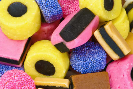 Colourful liquorice candy background texture photo