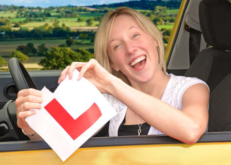 passed test: Happy to have passed driving test and ripping up L plate