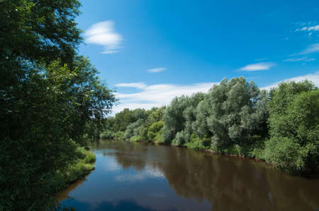 severn: Landscape of river Severn in England, UK in summer Stock Photo