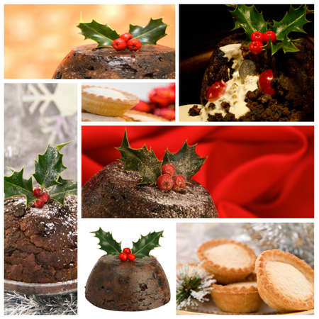 Collection of Christmas food images photo