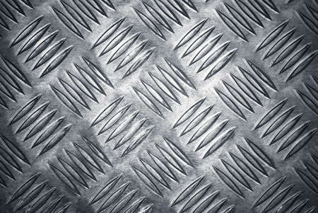 cross hatched: Aluminium checker plate background texture Stock Photo