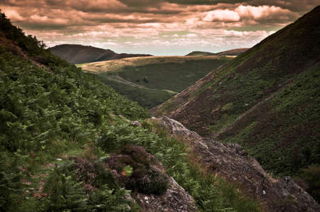 mill valley: Carding Mill Valley, part of the Long Mynd (Shropshire Hills) area of outstanding natural beauty