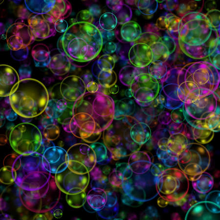 Colourful abstract bubbles background  photo