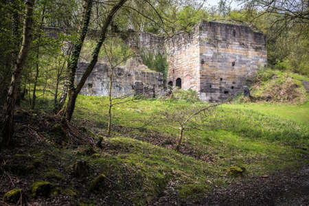 industrial ruins: Long abandoned buildings, part of the Granville colliery development and railway system. Part of Shropshires early industrial heritage which includes the Ironbridge and Coalbrookdale furnaces
