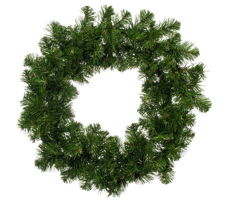 pine wreaths: Empty Christmas wreath isolated on a white background