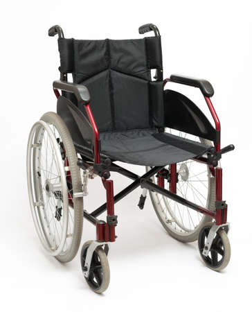 Wheelchair on a white background