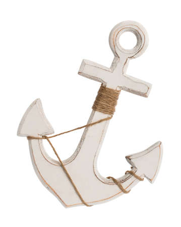 Nautical anchor isolated
