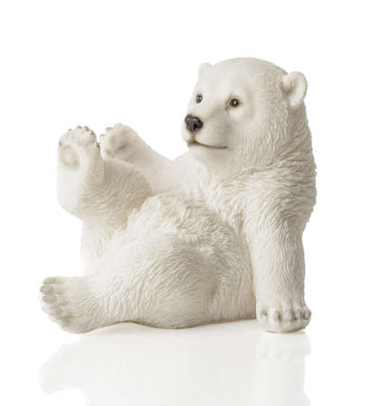 Polar bear figure for Christmas isolated on a white background