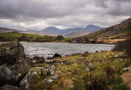 Wild landscape in Snowdonia National Park, North Wales, UK - Llynnau Mymbyr