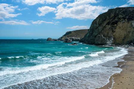cornish: St Agnes bay on the North Cornish coast, England,UK