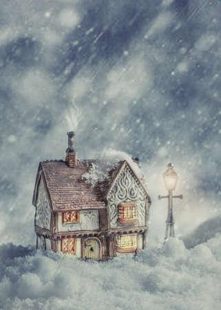 casa de campo: Cabaña del invierno en la nieve