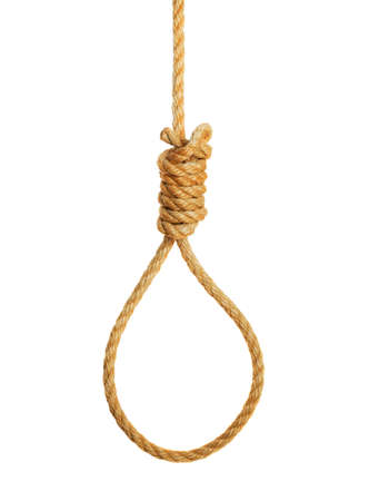 knot: Hangmans noose isolated on a white background