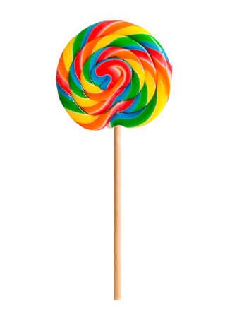 wooden stick: Retro candy lollipop swirl on wooden stick