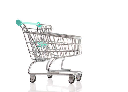 Empty shopping cart isolated on a white background Stock Photo