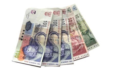 �south: Sudafricano denaro isolato su uno sfondo bianco