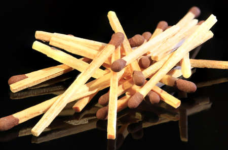 Bunch of matches isolated on black