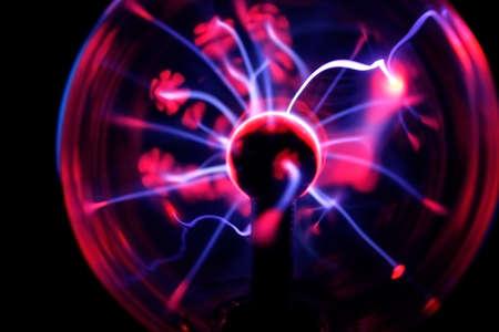 Electric Plasma Sphere Stock Photo