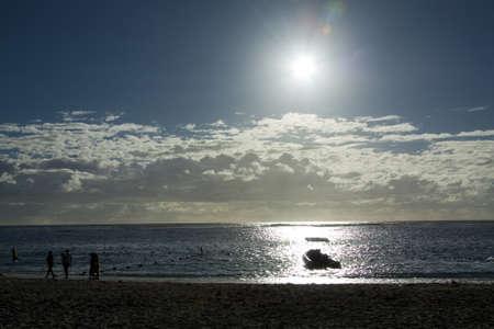 Mauritian Beach in the afternoon sun, Flic en Flac