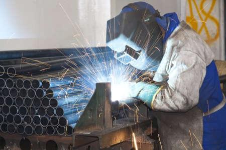 Factory Worker Welding