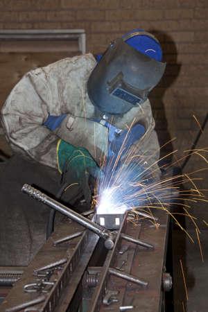 Factory Worker Welding photo