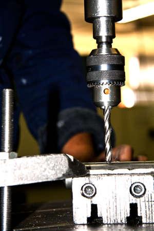 Drill press Stock Photo