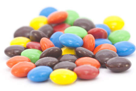 Multi-colored candy isolated on a white background photo