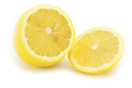 Sliced Lemon on white