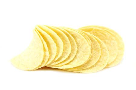 Potato Crisps isolated on a white background photo