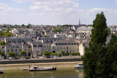 View over Angers skyline, Maine et Loire, France, Europe Banque d'images